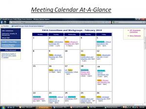 Meeting Calendar At-A-Glance