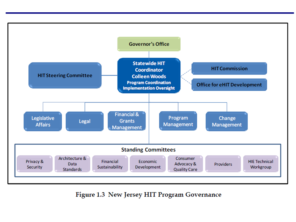 NJ HIT Program Governance Figure 1.3
