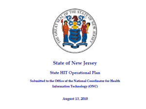 NJ State HIT Operational Plan 2010